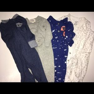 Baby boy long sleeved body suit bundle